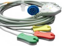 EKG-Kabel 3-adrig IEC/Clip für Datex-Ohmeda