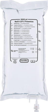 Fresenius NaCL 0,9%, 3000ml, Careflex® Duo