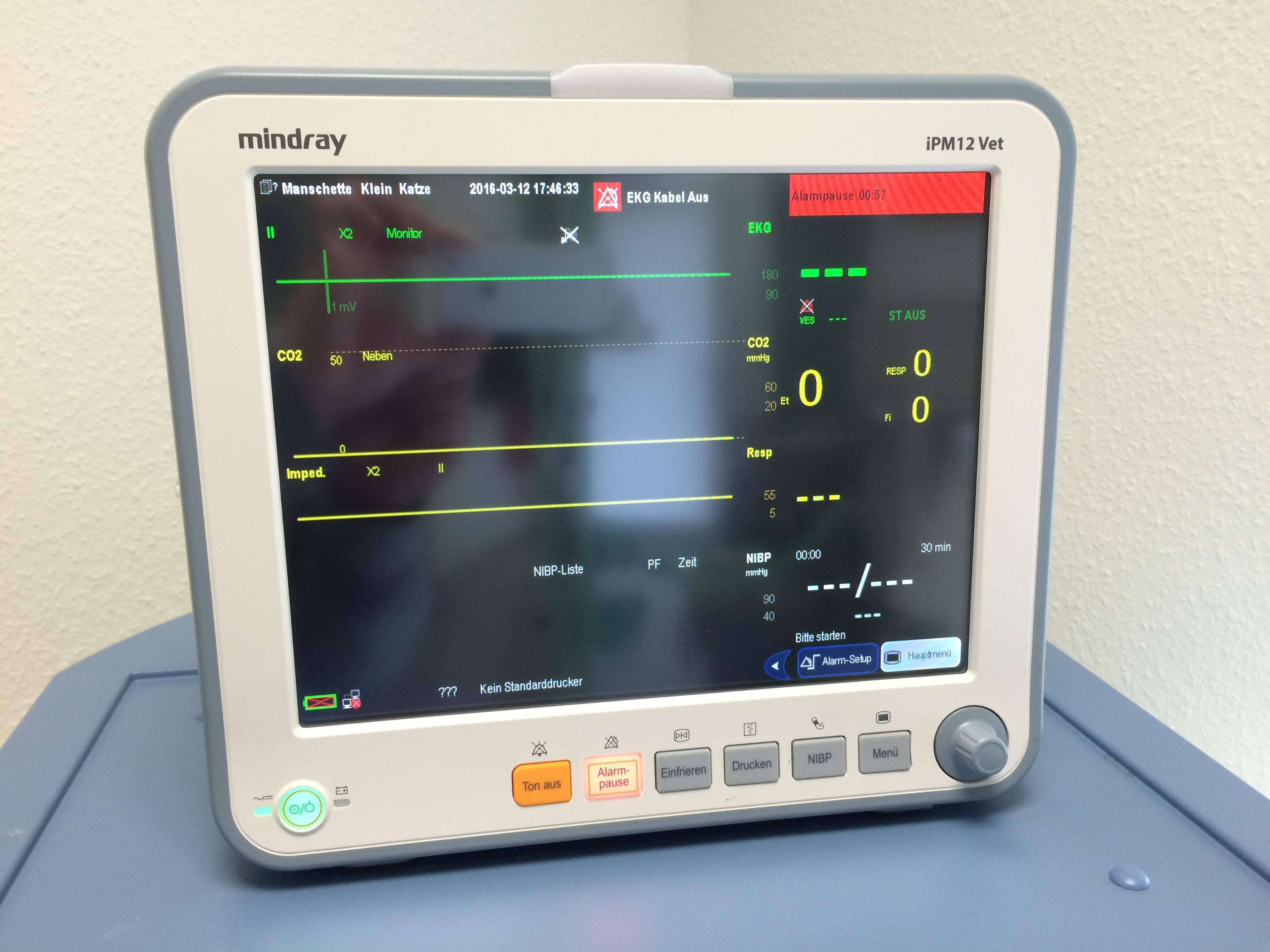 Mindray iPM-12 Vet modularer Veterinärmonitor